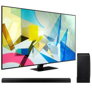 "Samsung 75"" Class 4K Q80T QLED UHD HDR - Smart TV with 3.1.2 Channel Soundbar System, , large"