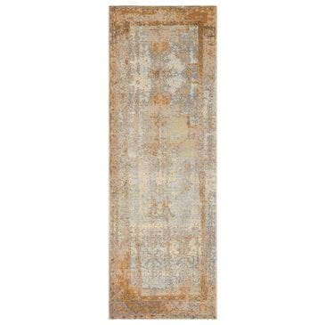"Loloi Mika MIK-11 2'5"" x 11'2"" Antique Ivory and Copper Runner, , large"
