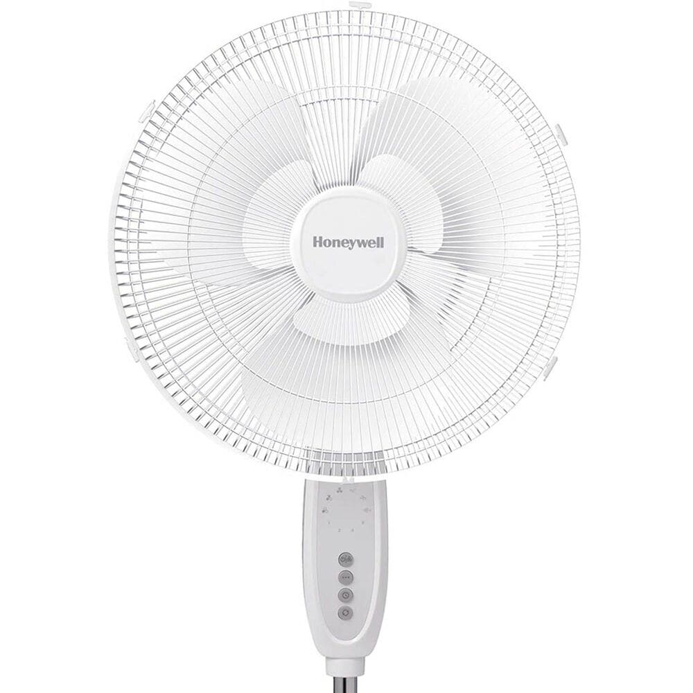 "Honeywell 16"" Double Blade Pedestal Stand Fan in White , , large"