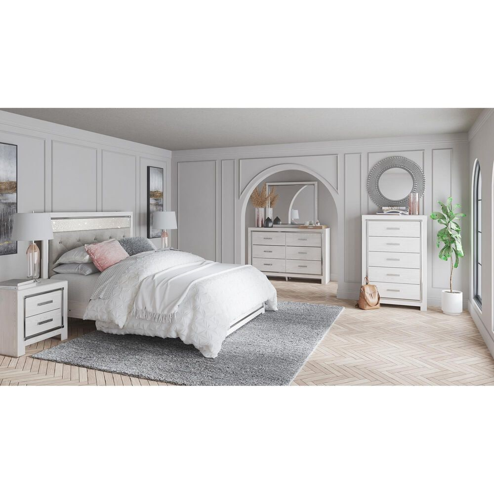 Signature Design by Ashley Altyra 5 Drawer Chest in White, , large