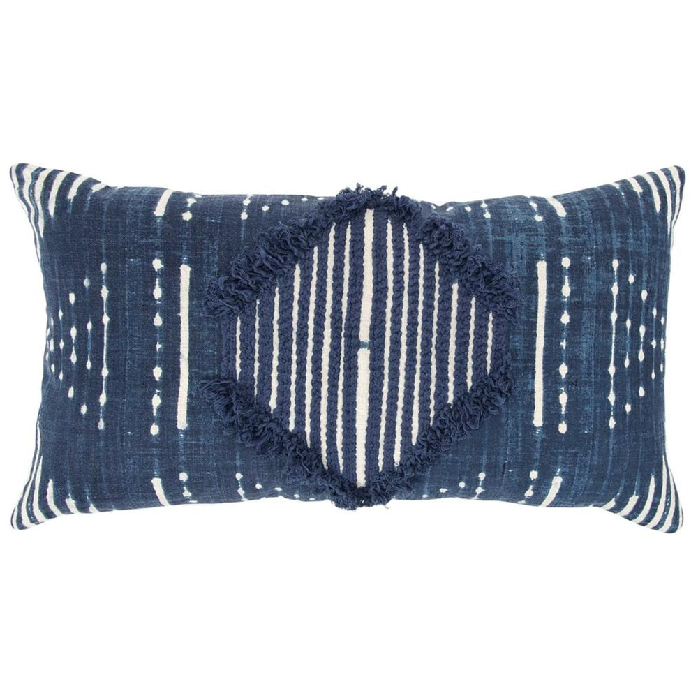 """Rizzy Home Donny Osmond 14"""" x 26"""" Pillow Cover in Indigo, , large"""