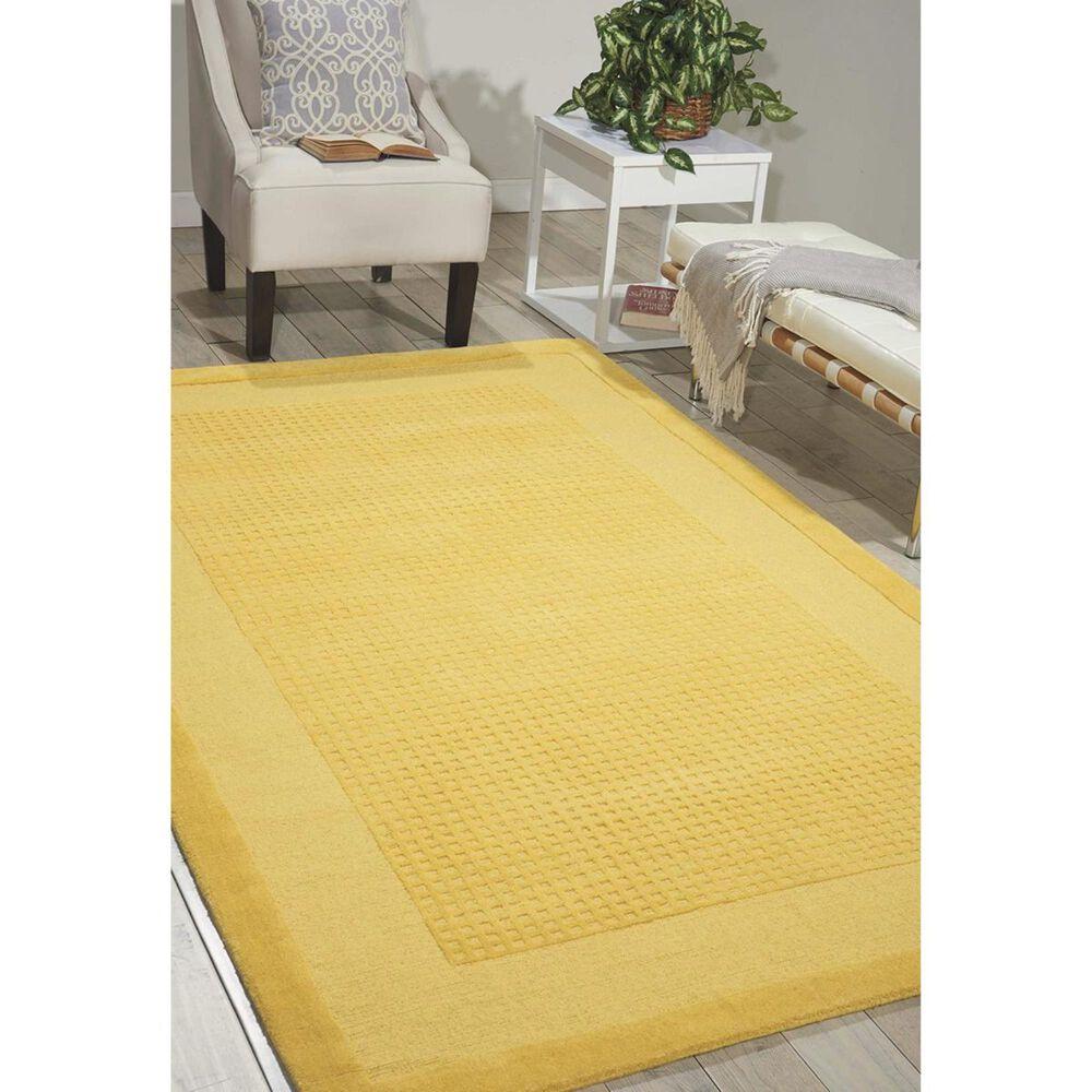 Nourison Westport WP30 5' x 8' Yellow Area Rug , , large