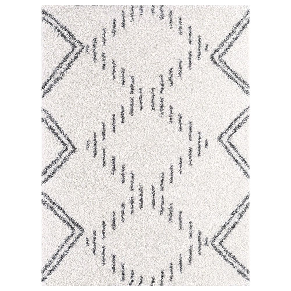 """Central Oriental Prince Light Analia 8653.247 2'2"""" x 3' Anthracite and Cream Area Rug, , large"""