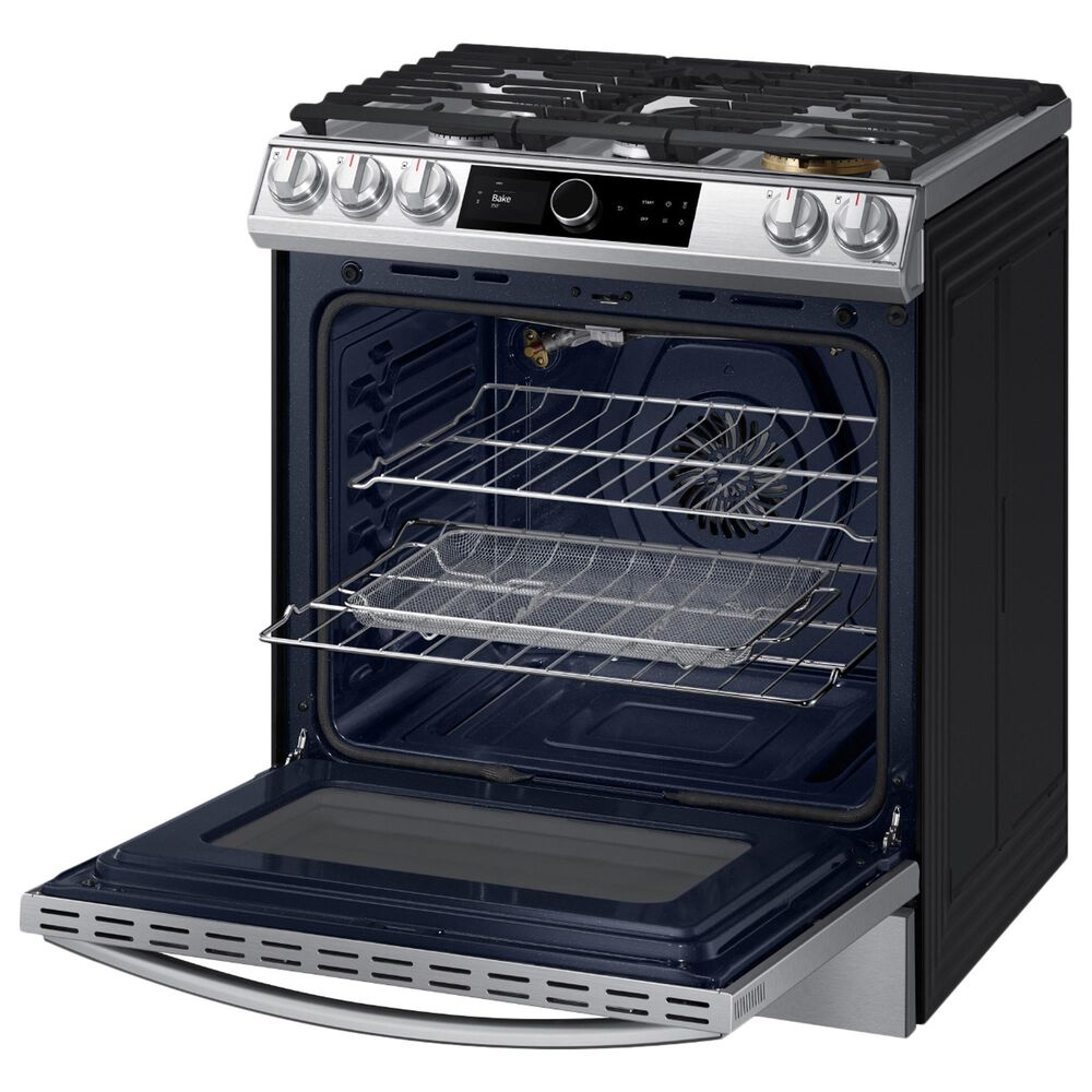 Samsung 6.0 Cu. Ft. Front Control Slide-in Gas Range with Smart Dial, Air Fry and Wi-Fi in Stainless Steel, , large