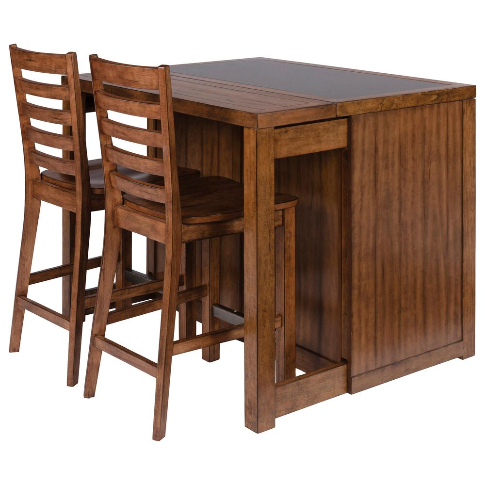 Home Styles Sedona Kitchen Island & 2 Stools in Toffee, , large