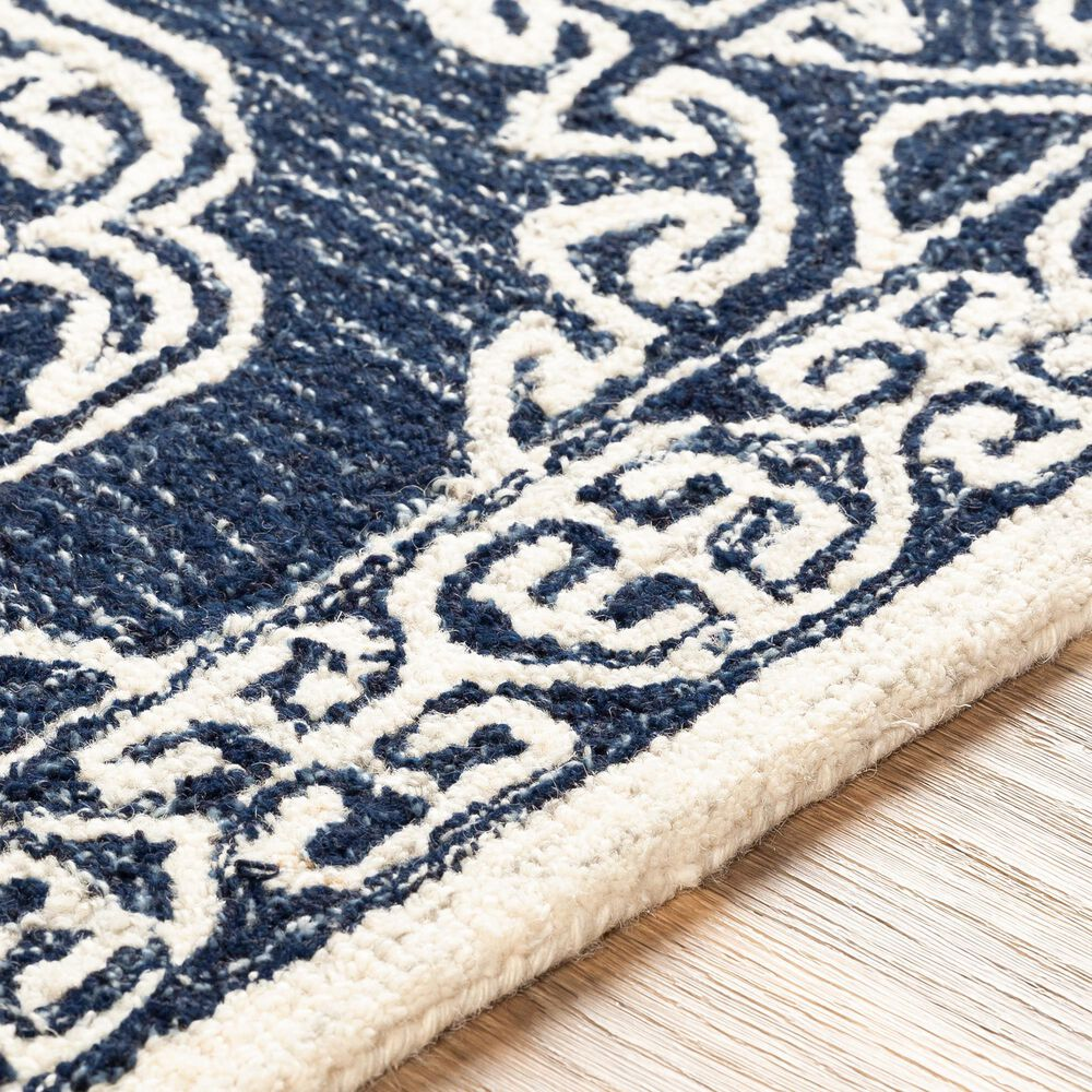 Surya Granada GND-2308 8' x 10' Dark Blue, Ivory and Charcoal Area Rug, , large