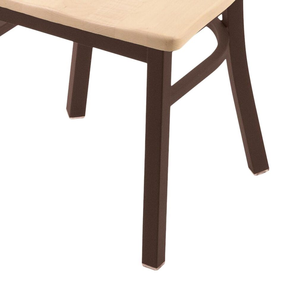 """Holland Bar Stool 620 Catalina 18"""" Chair with Bronze and Natural Maple Seat, , large"""