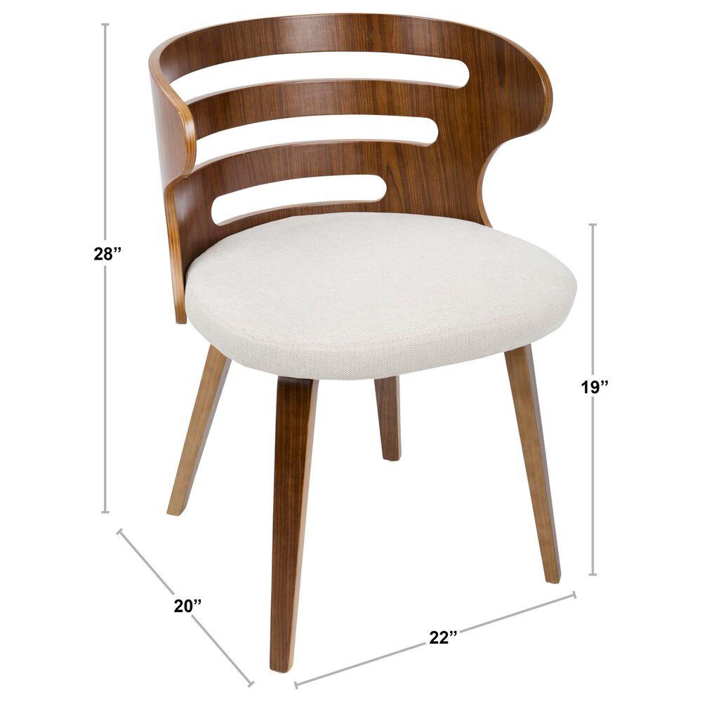 Lumisource Cosi Dining Chair in Grey/Walnut, , large
