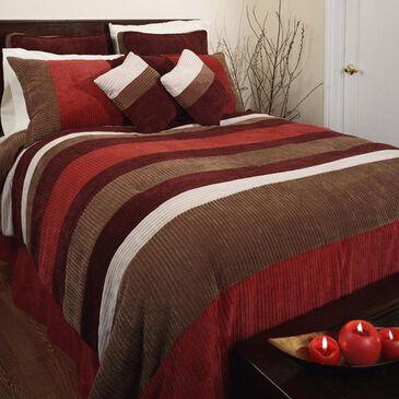 Epoch Hometex Geo 7 Piece Full Comforter Set in Red, , large