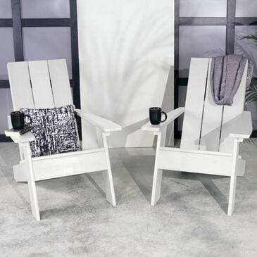 Highwood USA Barcelona Adirondack Chair in White (Set of 2), , large