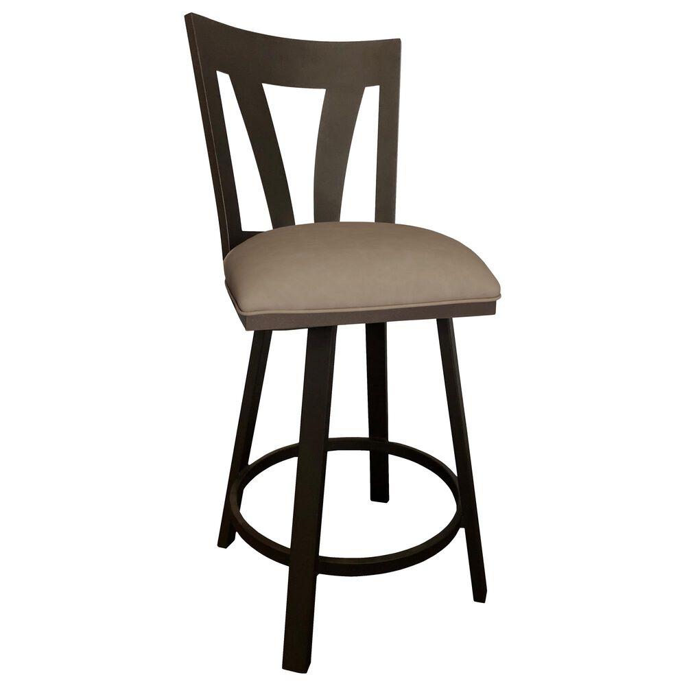 "Delaware Dining Austin 26"" Swivel Barstool in Sun Bronze/Coffee, , large"