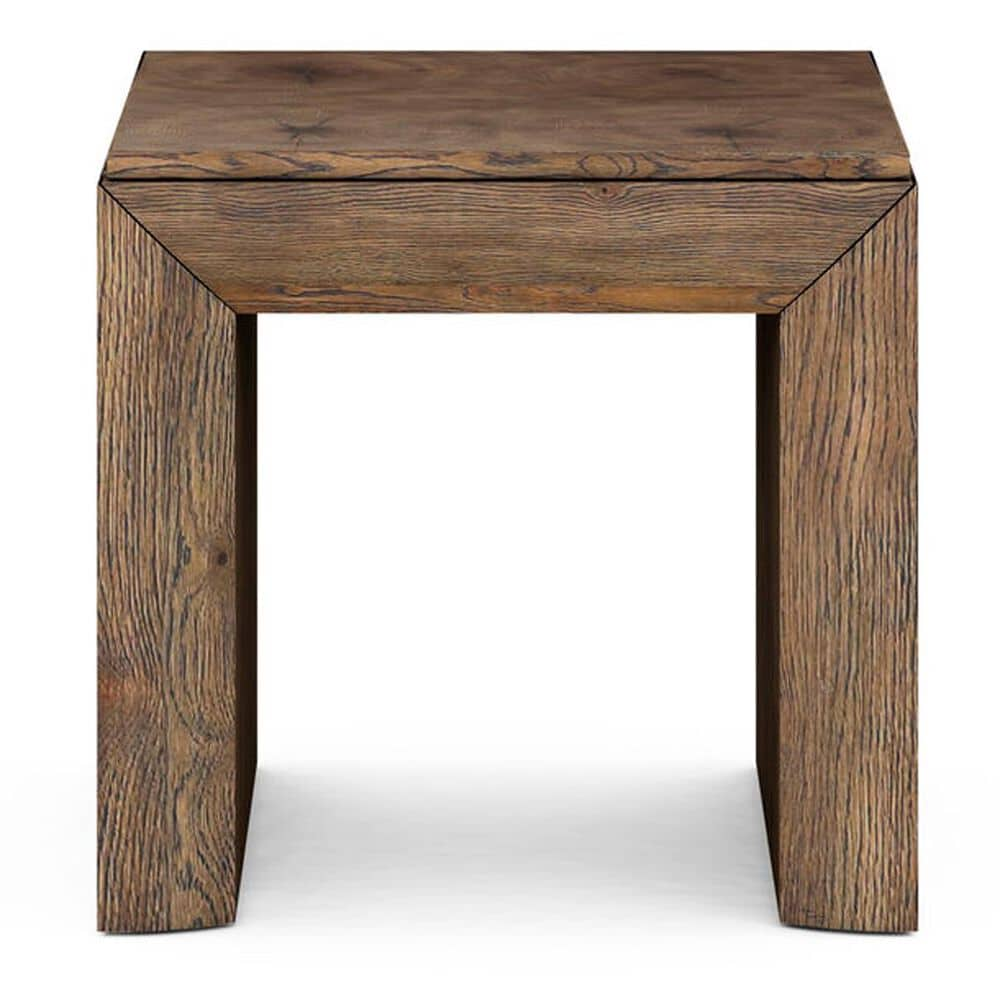 Vantage Stockyard Square End Table in Smoaked Brown, , large