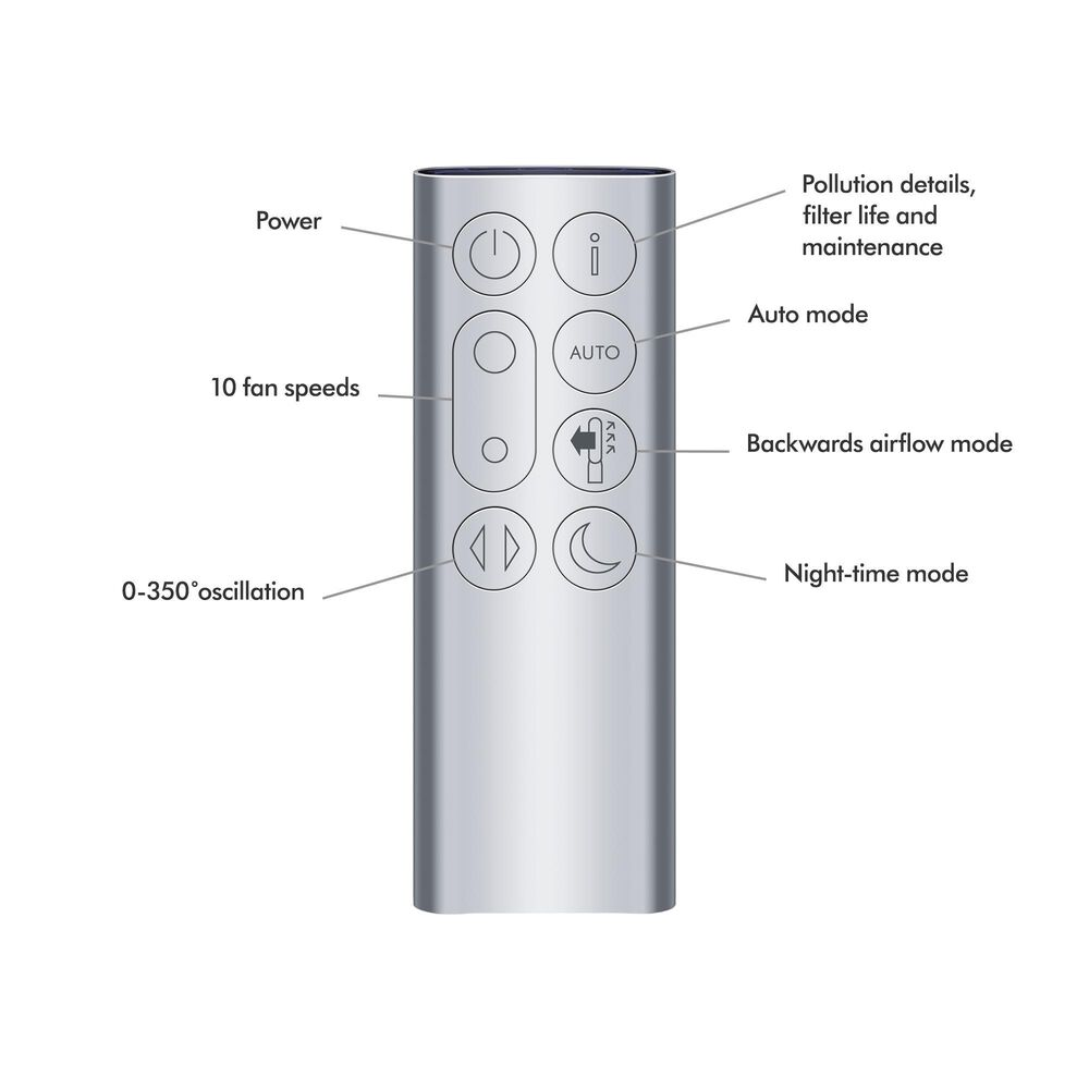 Dyson Purifier Cool TP07 Fan in White/Silver, , large