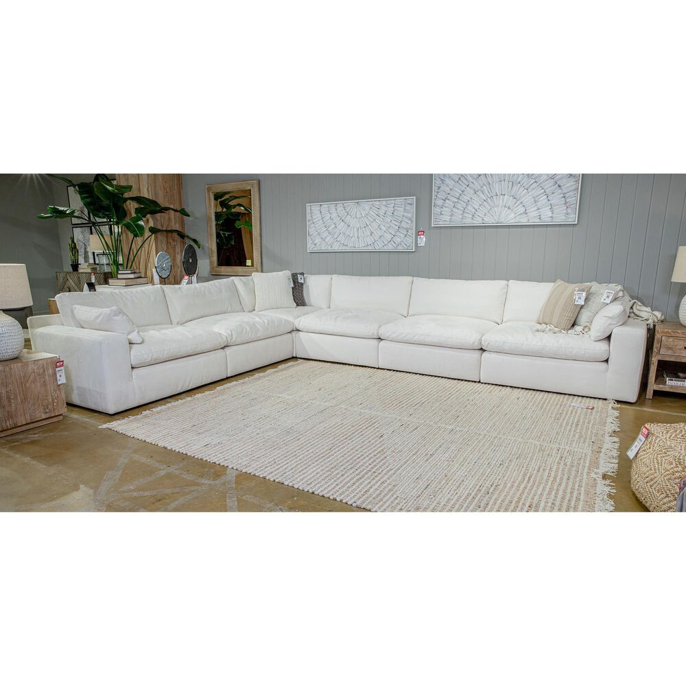 Signature Design by Ashley Next-Gen Gaucho 6-Piece L-Shaped Sectional in Chalk, , large