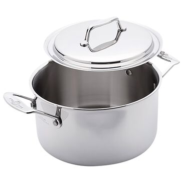 USA PAN 4 Qt Stock Pot with Cover in Gray, , large