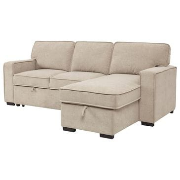 Signature Design by Ashley Darton 2-Piece Right Facing Sofa Chaise with Pop Up Bed in Tan, , large