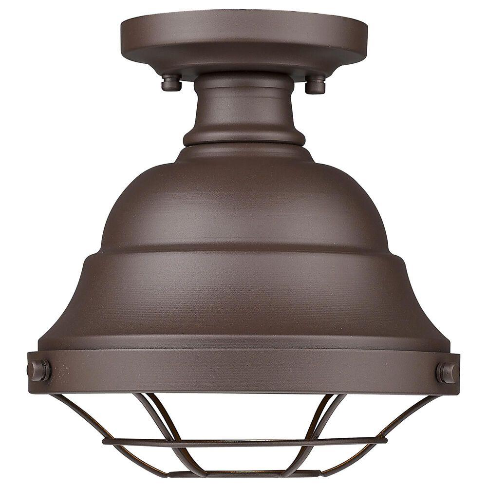 Golden Lighting Bartlett Outdoor Semi-Flush in Textured Bronze, , large