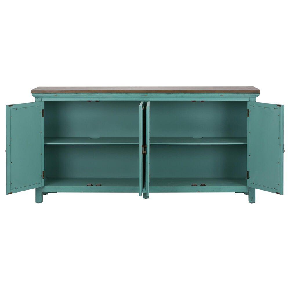 Belle Furnishings Kensington 4-Door Accent Cabinet in Blue, , large