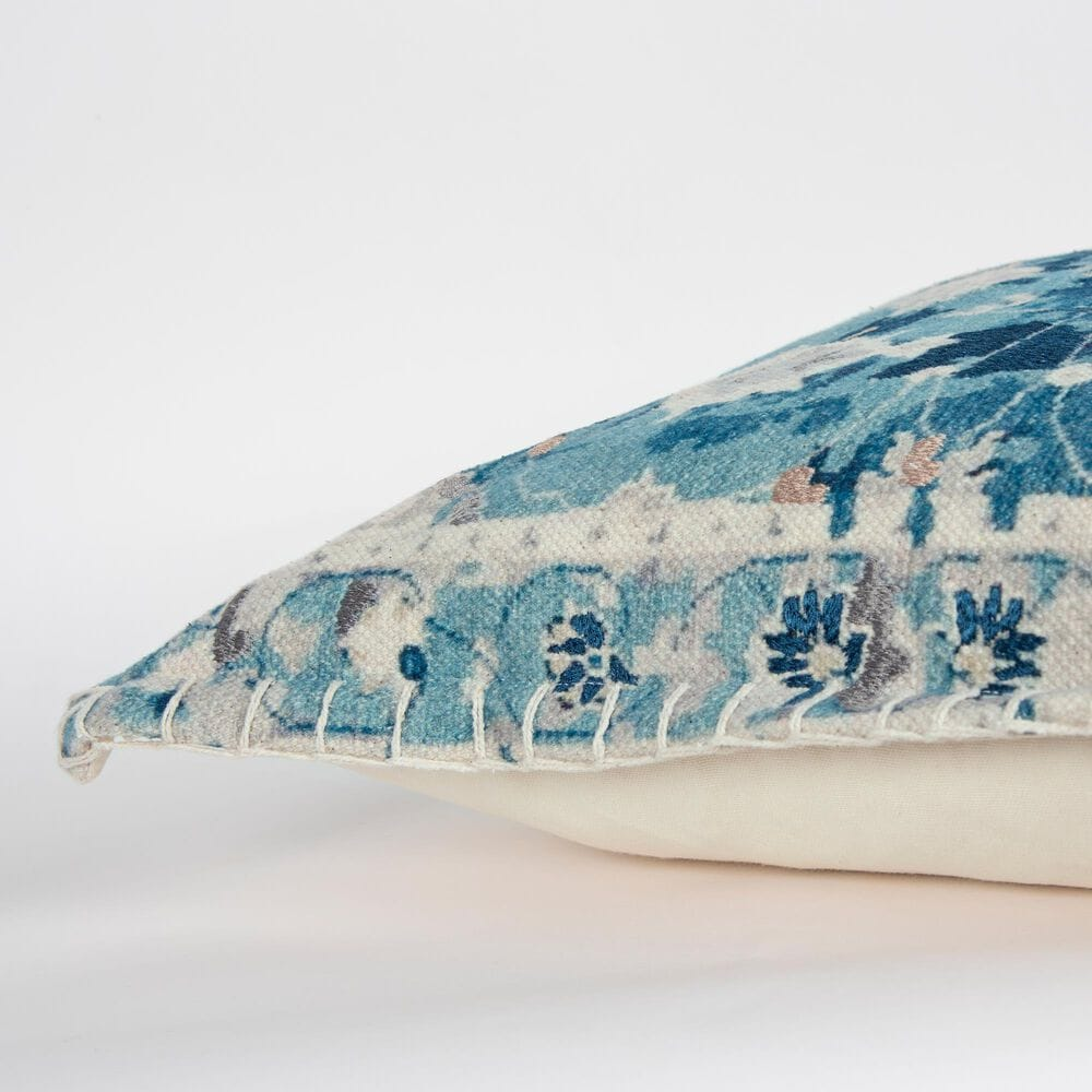 """Rizzy Home 20"""" Pillow in Blue, , large"""