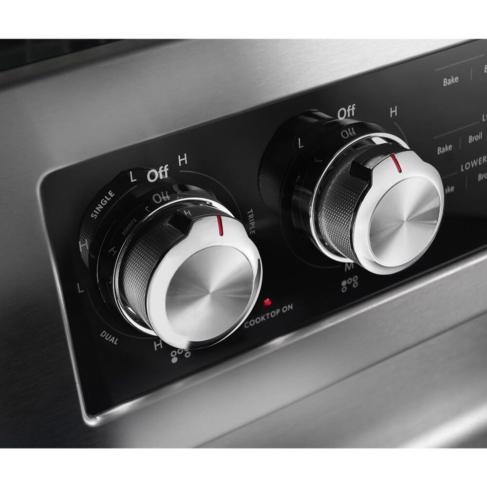 """KitchenAid 30"""" Freestanding Double Oven Electric Range in Stainless Steel, , large"""