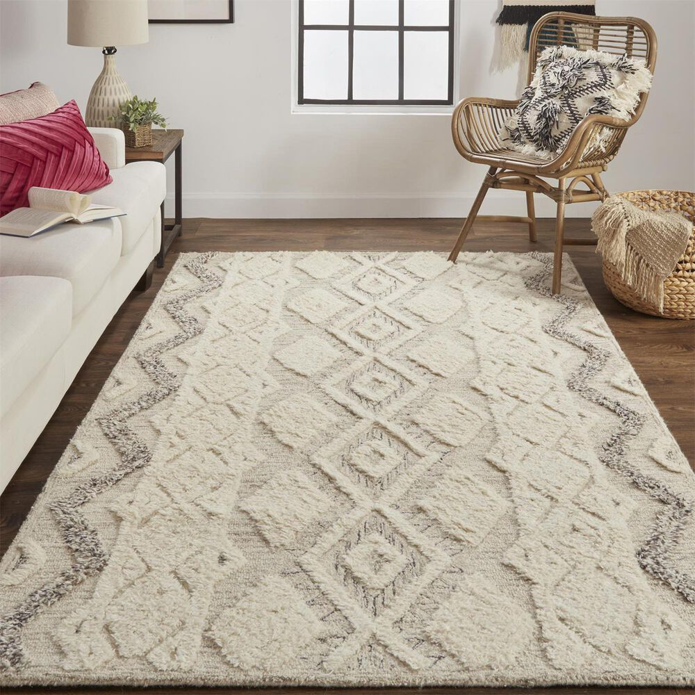 Feizy Rugs Anica 8006F 8' x 10' Gray Area Rug, , large