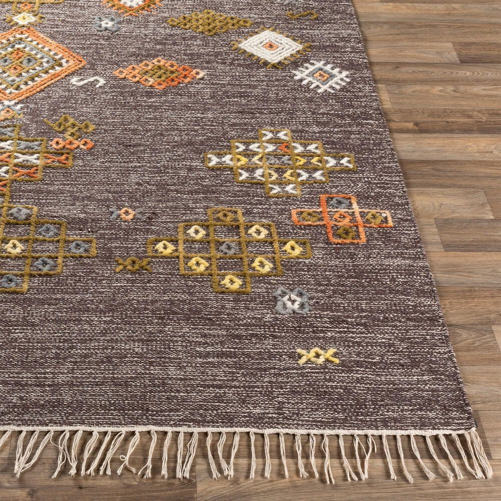 "Surya Zanafi ZNF-2305 2'6"" x 8' Brown, Orange and Red Area Rug, , large"