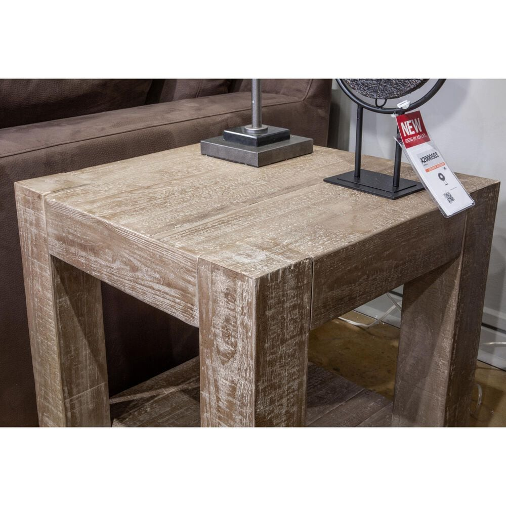 Signature Design by Ashley Waltleigh End Table in Distressed Brown, , large