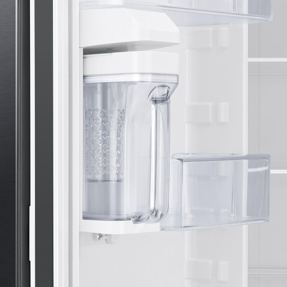 Samsung 28 Cu. Ft. 3-Door French Door Refrigerator with AutoFill Water Pitcher in Black Stainless Steel, , large