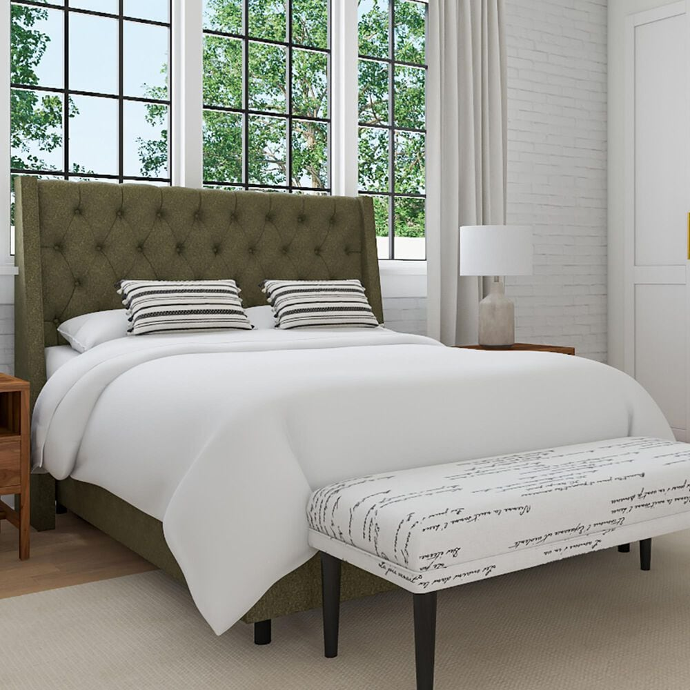Skyline Furniture Loomis Queen Bed in Orly Army, , large