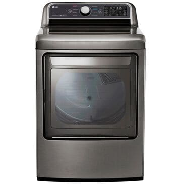 LG 7.3 Cu. Ft. Rear Control Top Load Gas Dryer in Graphite Steel , , large