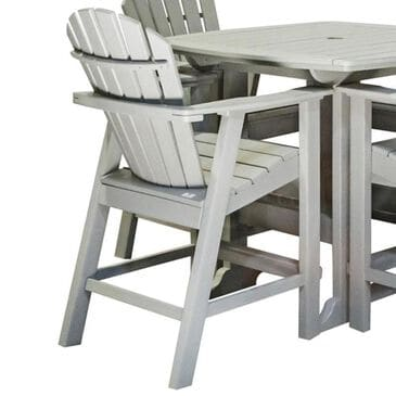 Oceanside Adirondack Shellback Balcony Chair in Gray, , large