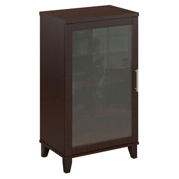 Bush Somerset Audio Cabinet/Bookcase in Mocha Cherry, , large