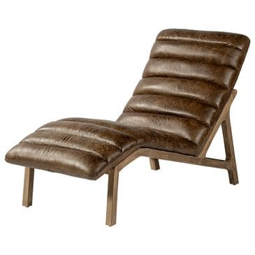 Mercana Pierre Chaise Lounge Chair in Whiskey Toned Leather, , large