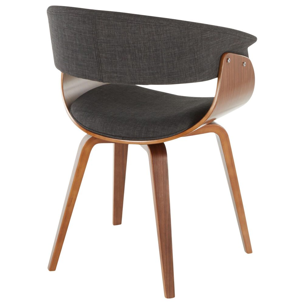 Lumisource Vintage Mod Dining Chair in Charcoal/Walnut, , large