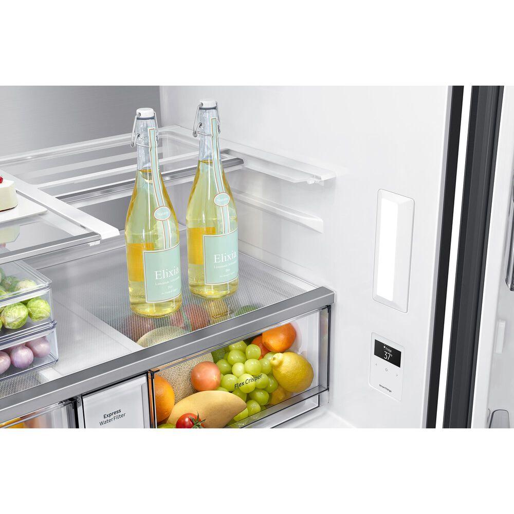 Samsung 29 Cu. Ft. 4-Door Flex French Door Refrigerator with Beverage Center in Black Stainless Steel, , large