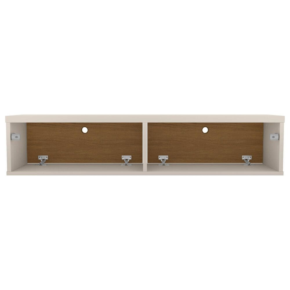 """Manhattan Liberty 42.28"""" Floating Entertainment Center in Off White/Cinnamon, , large"""