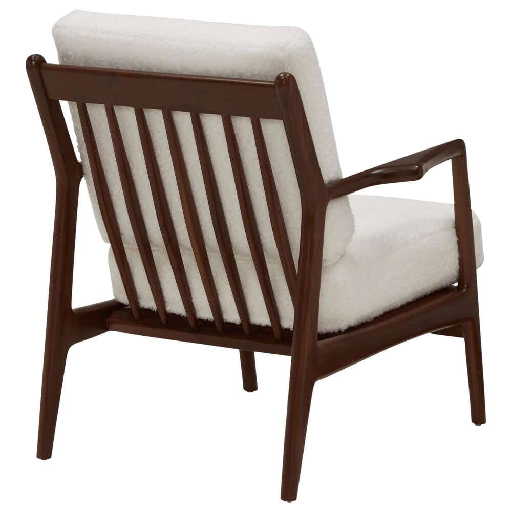 Joybird Collins Chair in Shearling Whisper and Walnut, , large