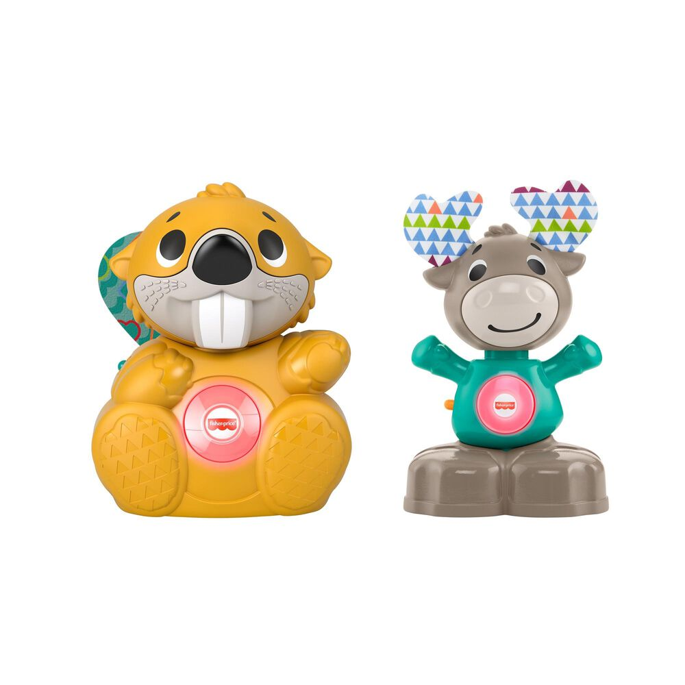 Fisher-Price Linkimals Boppin Beaver and Musical Moose, , large