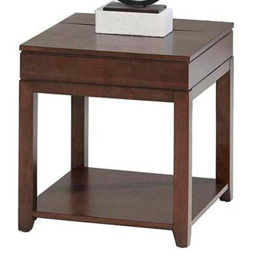 Tiddal Home Daytona Rectangular End Table in Regal Walnut, , large