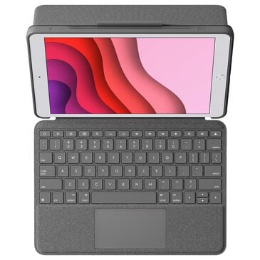 """Logitech Combo Touch Backlit Keyboard Case for Apple iPad 10.2"""" (7th Gen 2019) in Graphite, , large"""