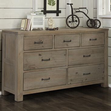 Richlands Furniture Highlands 7-Drawer Dresser in Driftwood, , large