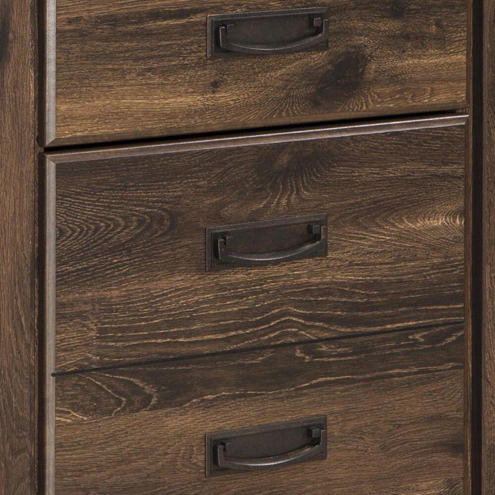 Signature Design by Ashley Quinden 4 Piece King Bedroom Set in Dark Brown, , large