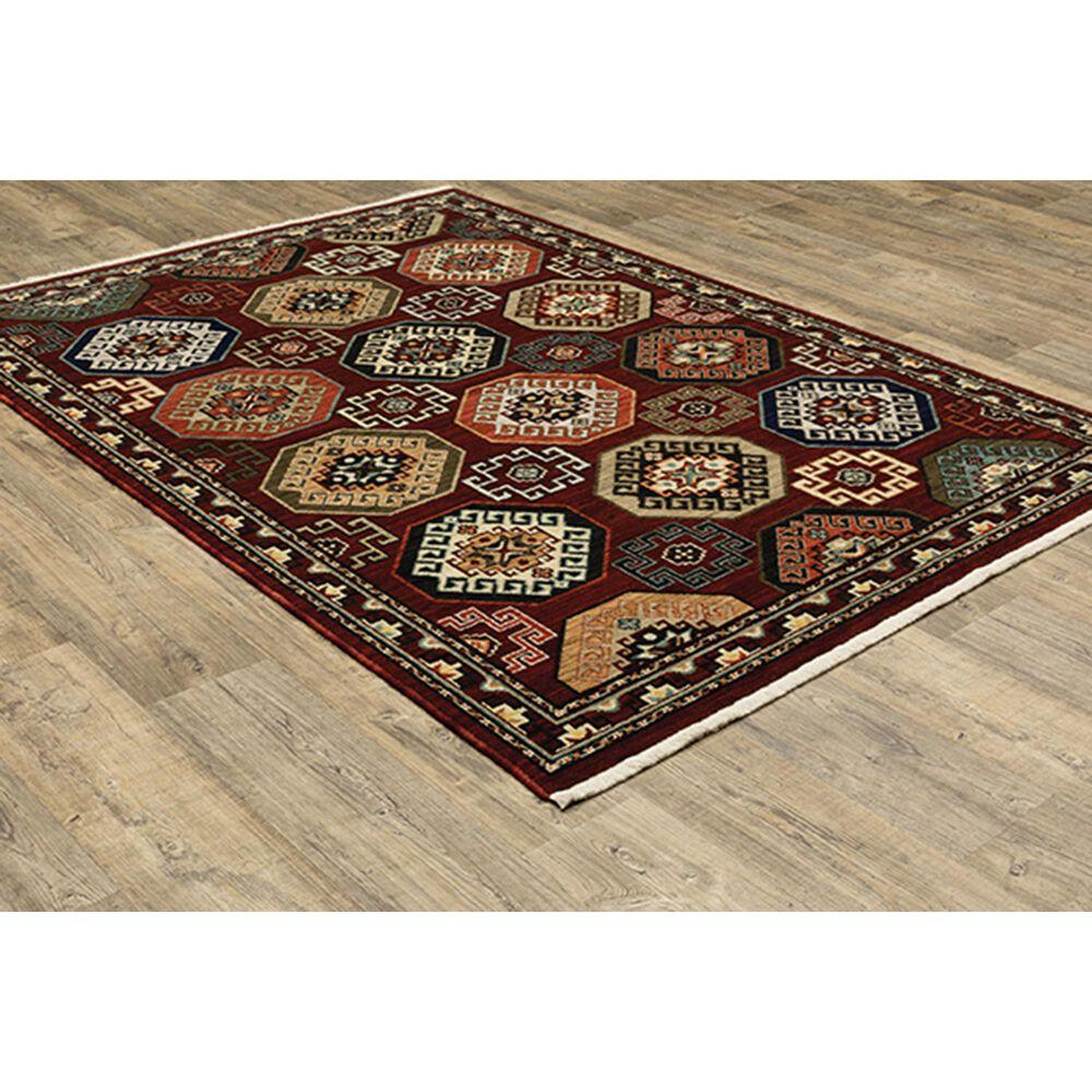"Oriental Weavers Lilihan Geometric 091R6 7'10"" x 10'10"" Red Area Rug, , large"