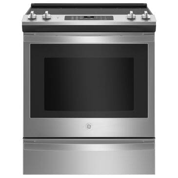 """GE Appliances 30"""" Slide-In Electric Convection Range with No Preheat Air Fry in Stainless Steel, , large"""