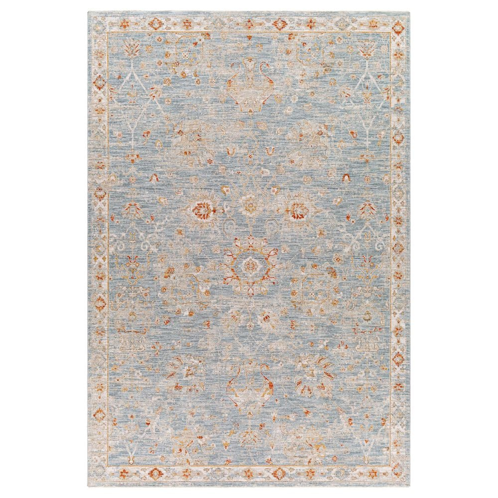 "Surya Avant Garde 2'7"" x 4' Orange, Blue and Beige Area Rug, , large"