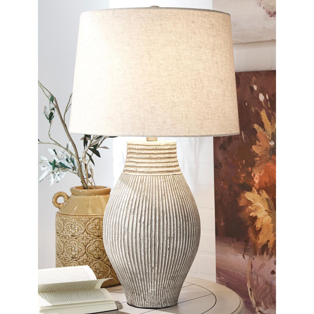 Signature Design by Ashley Layal Paper Table Lamp in Black, , large