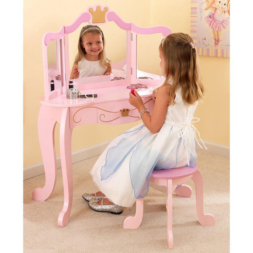 Kidkraft New Princess Table & Stool, , large