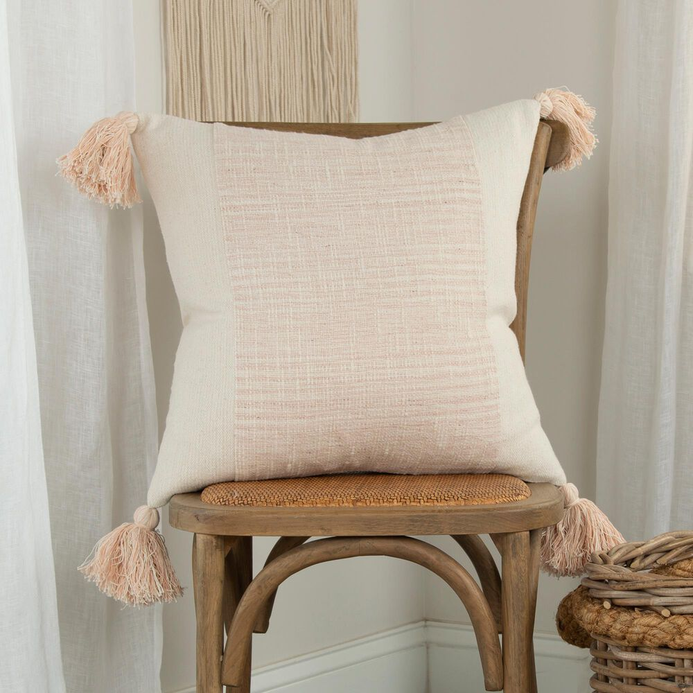 """Rizzy Home Donny Osmond 20"""" Pillow Cover in Blush, , large"""