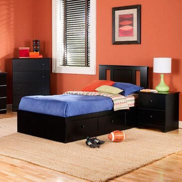 Lemoore Twin Mates Bed with Headboard in Black, , large