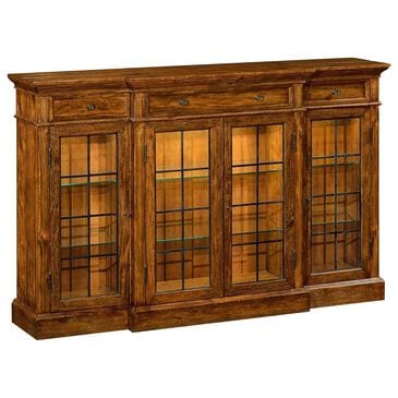 Jonathan Charles Fine Furniture Casually Country 4-Door China Display in Rustic Walnut, , large